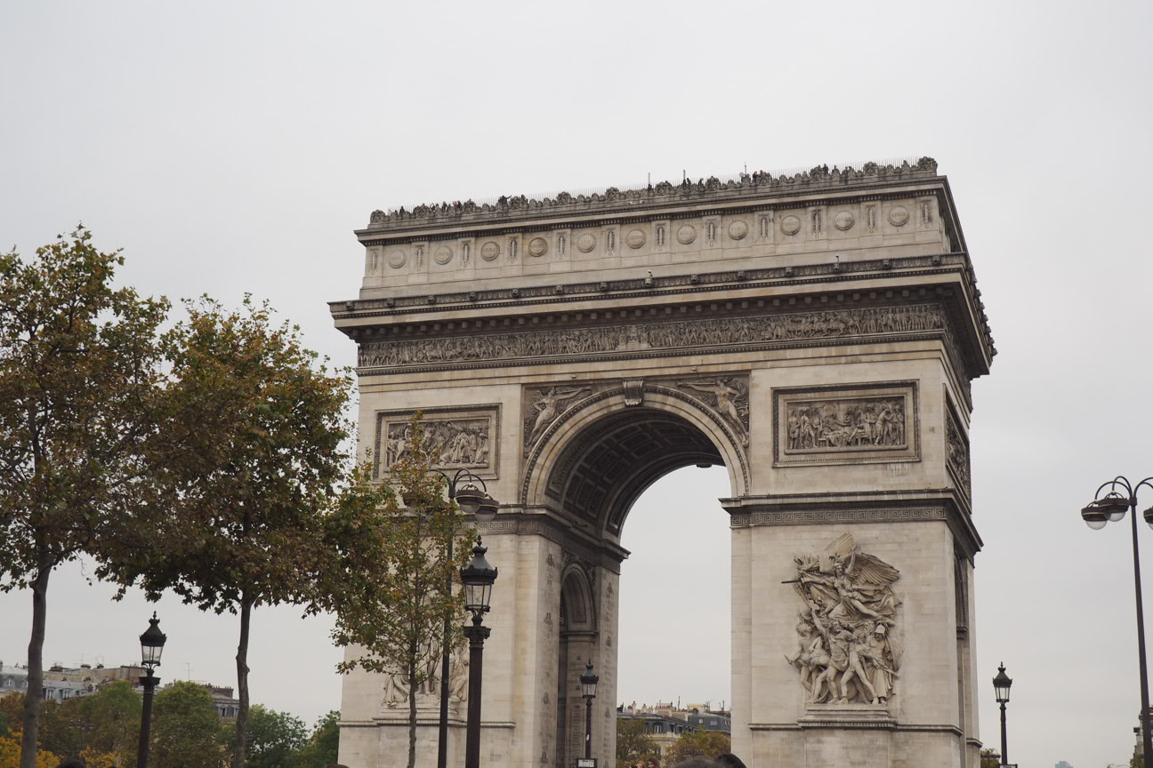 paris champs elysee arch