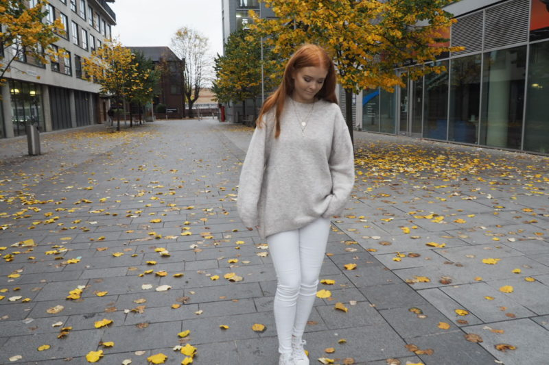 zara oversized jumper fashion outfit