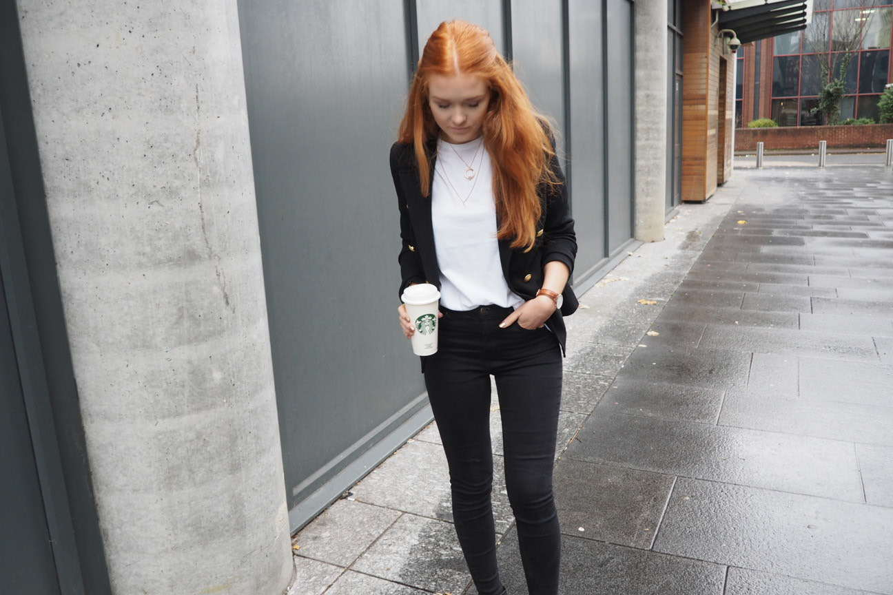 missguided military blazer smart casual outfit inspiration