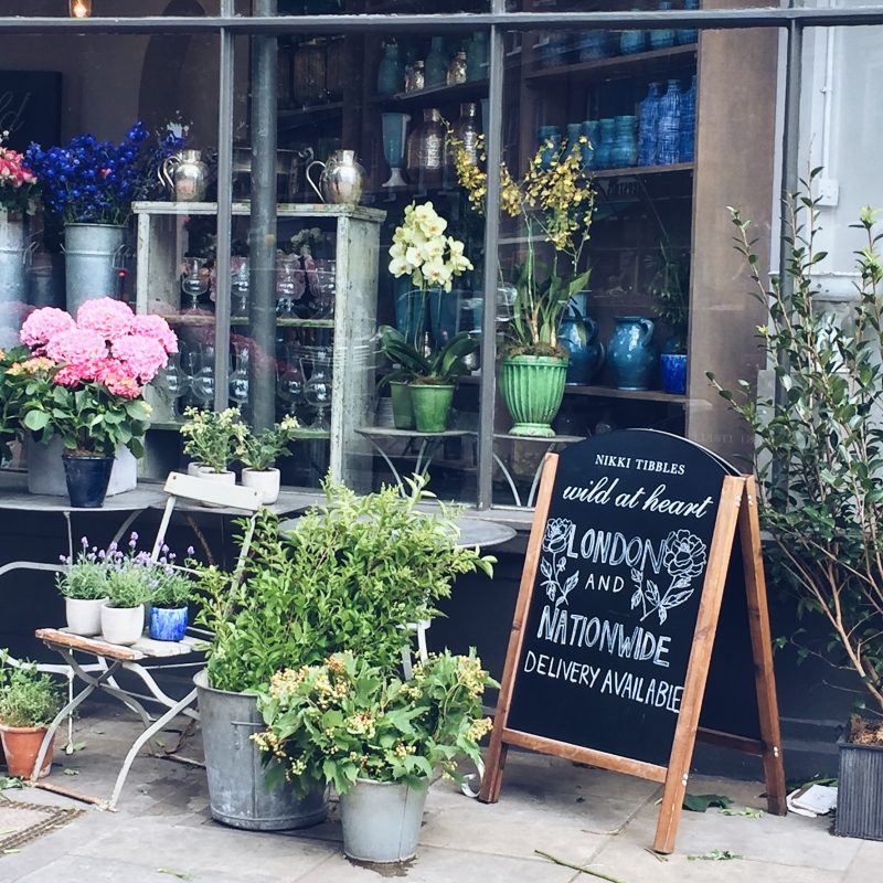 Wild thing florist in Pimlico London